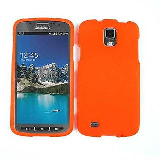 Cell Armor Snap Case for Samsung Galaxy S4 Active i9252 - Retail Packaging - Fluorescent Orange