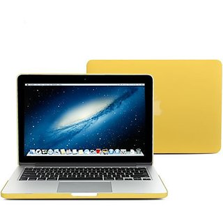GMYLE(R) Yellow 2 in 1 Rubberized (Rubber Coated) Hard Case Cover - Silicon Keyboard Protector - for MacBook Pro 13 inch