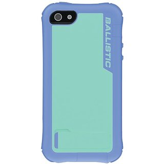 Ballistic EV0993-M095 Case with Holster for iPhone 5 - 1 Pack - Retail Packaging - Purple/Blue