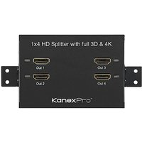 Kanex Pro ProBar 1x4 High Bandwidth HDMI Splitter With Full 3D Support And 4K Cinema Resolutions (HD8PTBSP)
