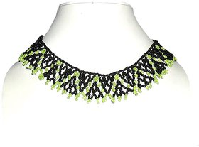 Beadworks Hand Woven In Style Collar Necklace