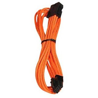 BitFenix Alchemy Multisleeve 45cm 8-Pin PCI-E Extension Cable - Orange Sleeve/Black Connector (BFA-MSC-8PEG45OK-RP)