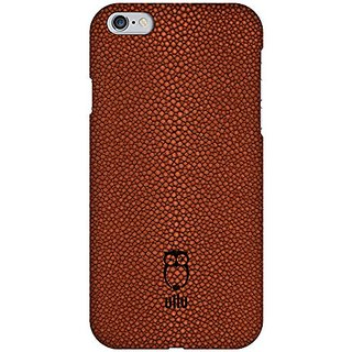 ullu SnapOn in Stingray Leather Cell Phone Case for iPhone 6 Plus - Retail Packaging - Milk Chocolate