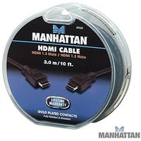 Manhattan 10-Feet High Speed HDMI Male To Male Display Cable - Black (391528)