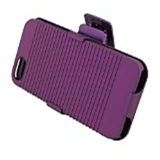 Eagle Cell POIPHONE5RSTHL05 SkinnySuit Clipster Combo Case with Kick Stand and Holster Belt Clip for iPhone 5 - Retail P