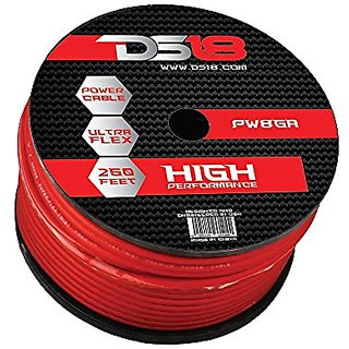 DS18 PW-8GA-250RD 8 Gauge 250 Feet Power Cable (Red)