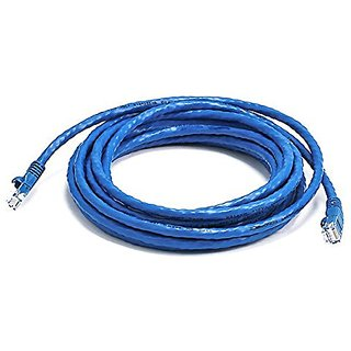 Monoprice 14FT 24AWG Cat6 550MHz UTP Ethernet Bare Copper Network Cable - Blue