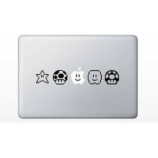 Mario Nintendo Characters Macbook Vinyl Sticker Laptop Skin