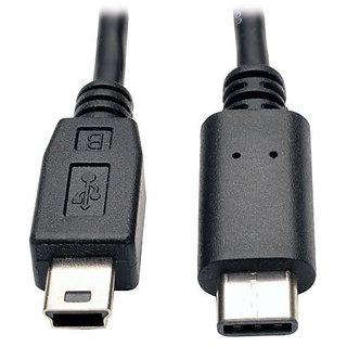 TRIPP LITE USB 2.0 Hi-Speed Cable 5-Pin Mini-B Male to USB Type-C Male (U040-006-MINI)