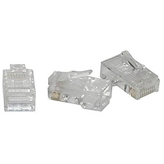 C2G / Cables to Go 01949 RJ45 Cat5 8 x 8 Modular Plug for Flat Stranded Cable 100 Pack