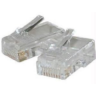C2G / Cables to Go 01931 RJ45 Cat5 8 x 8 Modular Plug for Flat Stranded Cable 10 pack