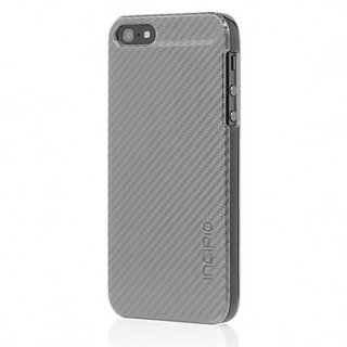 Incipio IPH-912 Feather CF Case for iPhone 5 - Retail Packaging - Silver