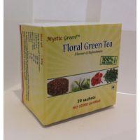 MYSTIC GREEN'S FLORAL (HIBISCUS+ROSE HIPS+GREEN TEA) DIP TEA BAGS  2 X 30 Bags