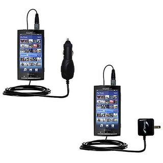 The Essential Gomadic Car and Wall Accessory Kit for the Sony Ericsson Xperia X10 - 12v DC Car and AC Wall Charger Solut