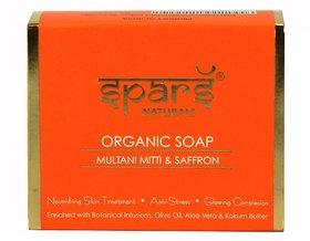 Sparsh - Natural Organic Soap - Multani Mitti  Saffron