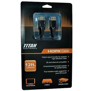 Titan TTN-HDMI-12CD-V2 12-Feet HDMI Cable with Ethernet Compatible