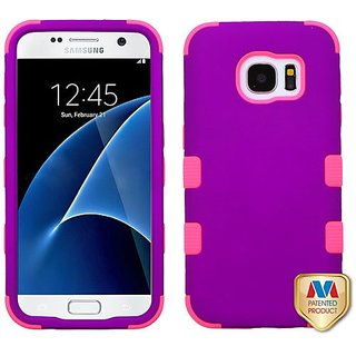 MyBat Cell Phone Case for Samsung G930 (Galaxy S7) - Retail Packaging - Pink/Purple