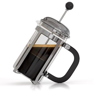600 ml French Press Coffee / Espresso / Tea Maker BPA Free Borosilicate Glass Carafe with Stainless Steel Components