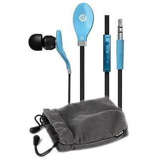 Dexim DEU039L iGroove Earbud with Built-in Remote & Mic (Blue)