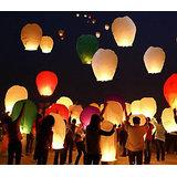2 Pcs Sky Lantern Fire Fly Kites Paper Hot Balloon Parachute Kandil Candle Diya