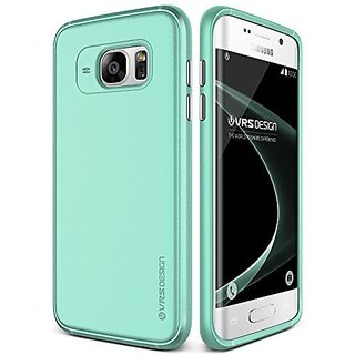 Verus Slim Fit Metallic Buttons Case for Samsung Galaxy S7 Edge - Ice Mint