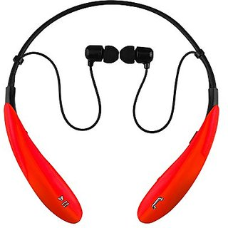 Iq Sound Bluetooth Wireless Headphones And Mic - Stereo - Red - Wireless - Bluetooth - 32.8 Ft - 16