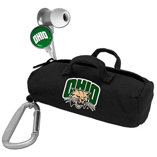 NCAA Ohio Bobcats Scorch Earbuds with Bud Bag