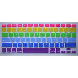 HYAIT Keyboard Cover Silicone Skin + FREE 1 set Anti Dust Plug Ports Cover for MacBook Pro 13