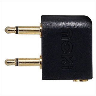 Moki International ACC CA2P Airline Headphone Adaptor