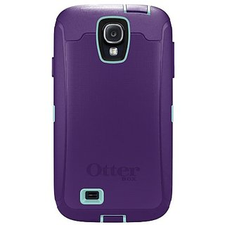 OtterBox Defender Series Case and Holster for Samsung Galaxy S4 - Carrier Packaging - Purple/Blue