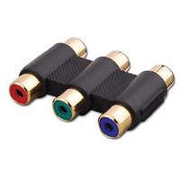 Vanco 121256X Triple RGB Component Video Coupler (Pack Of 5)