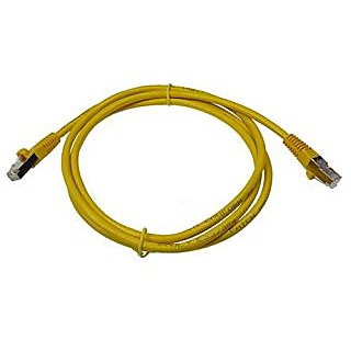 NTW 5 Cat 6 Snagless Shielded (STP) RJ45 Ethernet Network Patch Cable Yellow -345-S6-005YL