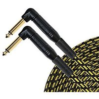 Sunburst Gear 851824003445 1/4-Inch TS Right Angle To 1/4-Inch TS Right Angle Cable (5-Feet)