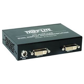 TRIPP LITE B140-002-DD DVI Over Cat5 Active Passive TAA Dual Display Extender Splitter