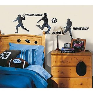 (6x11) Sports Silhouettes Wall Decal