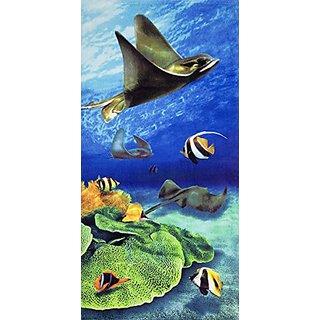 Stingray Velour Brazilian Beach Towel 30x60 Inches