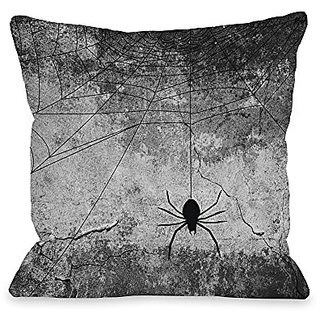 Bentin Home Decor Hanging Spider Throw Pillow w/Zipper by OBC, 18
