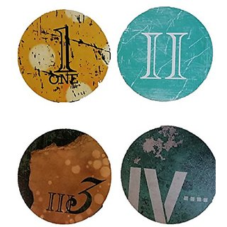 Funny Guy Mugs Roman Numeral Coaster, Single Coaster, Black