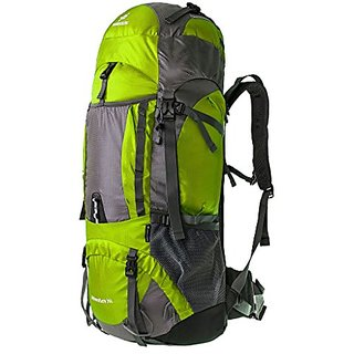 Coreal 70L backpack climbing camping hiking travel and mountaineering outdoor for Women & Men Light Green,