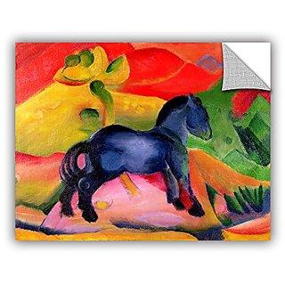ArtWall Franz Marcs Little Blue Horse Art Appeelz Removable Wall Art Graphic, 24