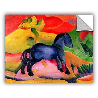 ArtWall Franz Marcs Little Blue Horse Art Appeelz Removable Wall Art Graphic, 36