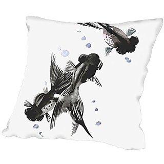 American Flat Koi, black Moor Fish Pillow by Suren Nersisyan, 20