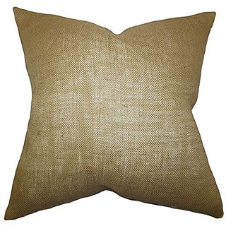 The Pillow Collection Ellery Solid Pillow, Taupe