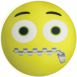 iscream Emoji Zipped-Lip Microbead Pillow