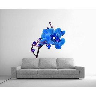Decor Kafe Blue Flower Wall Poster