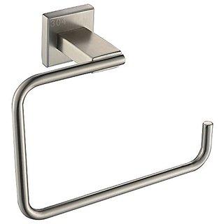 Taozun Bathroom Square Towel Ring Towel Holder SUS 304 Stainless Steel Brushed Nickel