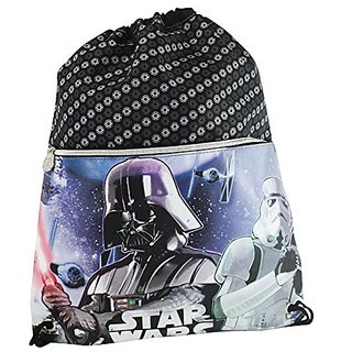 Disney Star Wars Vader Drawstring Gym Backpack Daypack Travel Bag Slim