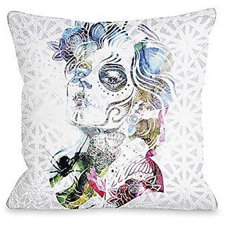 Bentin Home Decor Dia Girl Throw Pillow by OBC, 18
