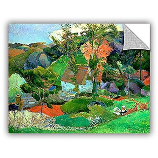 ArtWall Paul Gauguins Landscape at Pont Aven Art Appeelz Removable Graphic Wall Art, 24 x 32