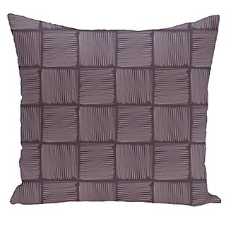 E By Design PGN371PU9PU16-26 Basketweave Geometric Print Pillow, 26